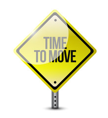 time to move signpost illustration design