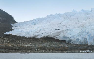 Perito moreno glacier. Patagonian landscape.