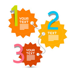 Three Steps Paper Vector Infographics Layout
