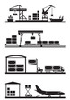 Cargo terminals icon set - vector illustration - 65478484