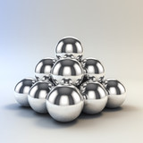 3d metal sphere - 65479002