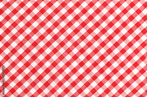 Tuinposter Stof Checkered Table Cloth