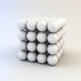 3d white shiny spheres - 65479269