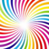 Fototapety Abstract Rainbow Hypnotic Background Vector Illustration