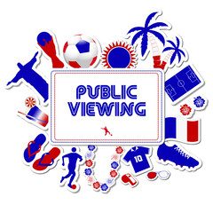 Public Viewing France Worldcup 2014
