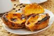 pasteis de nata, typical Portuguese egg tart pastries - 65479856