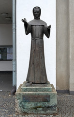 Statue of Francis of Assisi in Dusseldorf, Germany