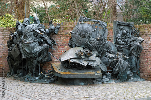 City founding monument in Dusseldorf