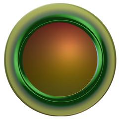 socle bouton web carré vierge, rond tendance verte