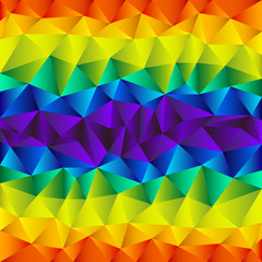spectrum rainbow background triangular pattern