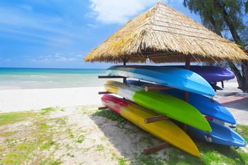canoe Shelf on the tropical beach