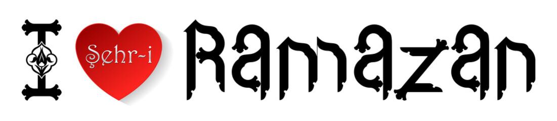 Vektörel Ramazan Tipografi