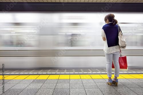 Fotobehang Tokyo Tokio U-Bahn
