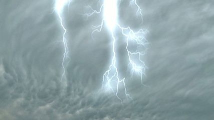 Lightning In Storm Clouds - Video background
