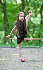 Little girl with great stretching
