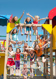 Happy kids playing outdoors - Fine Art prints