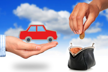 Buying car.