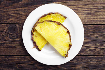 Two pineapple slices