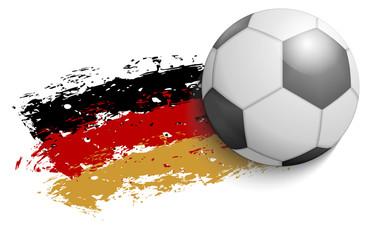 Deutschland - Fußball - Flagge 2014 grunge