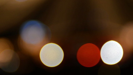 city lights out of focus Bokeh