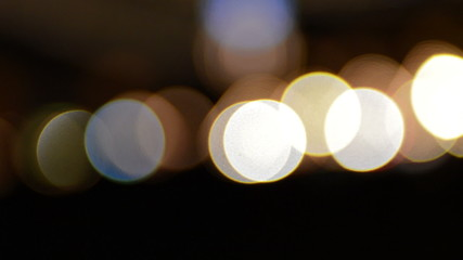 Bright white lights bokeh