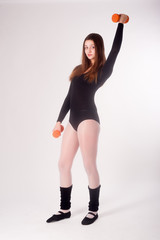 Young fitness woman working out