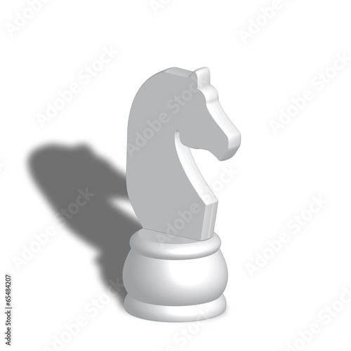 Cavallo bianco scacchi