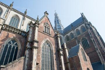 Dans les rues à Haarlem en Hollande