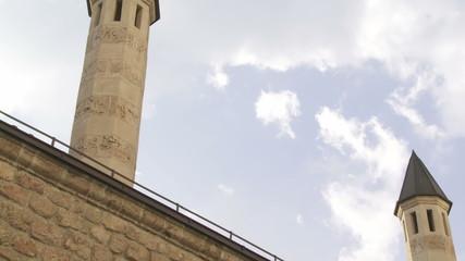 Minarets of Gazi Husrev mosque complex in Sarajevo