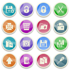 Document color icons.