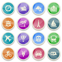 Travel color icons.
