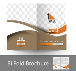 The International School Bi Fold  Brochure Design