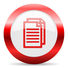 document glossy web icon