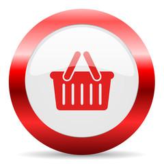 cart glossy web icon