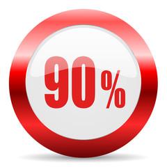 90 percent glossy web icon