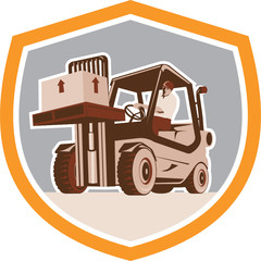 Forklift Truck Materials Handling Logistics Shield