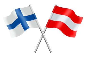 Flags : Finland and Austria