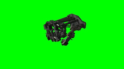 Terminator Robot Hand in motion - green screen