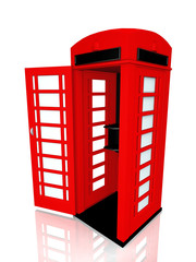 the English red telephone box