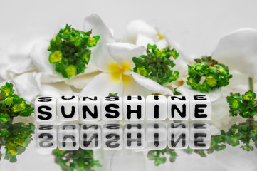 Sunshine with green flowers