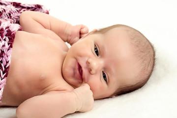looking newborn baby