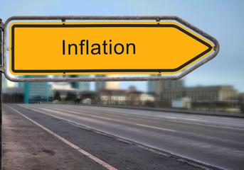 Strassenschild 14 - Inflation