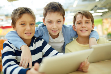 Children with touchpads
