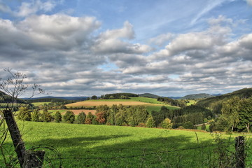 Ausblick im Sauerland Rothaarsteig Germany