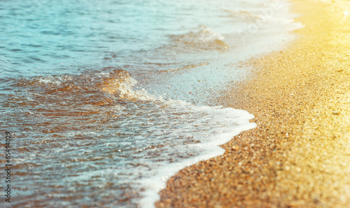 canvas print picture Beach sand and sea water