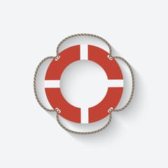 red lifebuoy symbol
