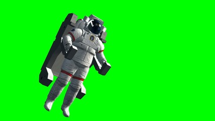 Astronaut Spacewalk green screen