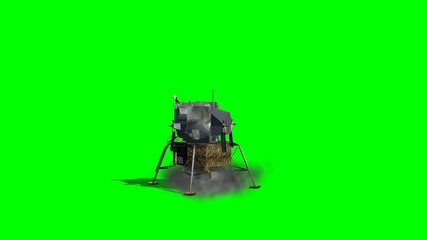 Apollo Lunar Lander starts green screen