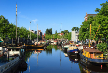 Canal in Groningen, Holland.