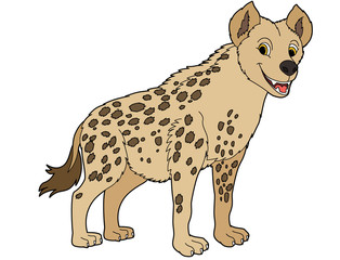 Cartoon animal - hyena - flat coloring style
